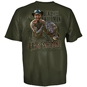 Call of the Wildman Men's Thunder Short Sleeve T-Shirt, Military Green, Large