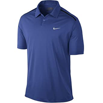Nike Mens Golf Lightweight Tech UV Polo Shirt-Royal Blue by Nike