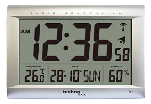 technoline-ws-8009-reloj-de-pared-controlado-por-radio-color-plateado