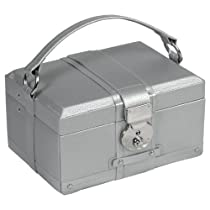 Wolf Designs Hand-Made Saint Tropez Small Jewelry Box, Platinum