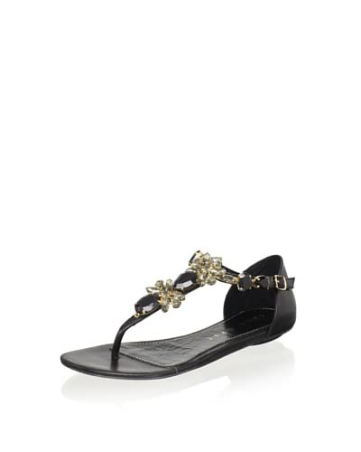 Lola Cruz Women's Jeweled Flat Sandal