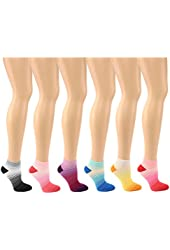 Cute Ombre Girls Ladies 6 Pairs Summer Thin Ribbed Ankle Casual Sport Socks