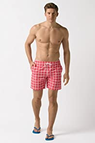 Check Pattern Swim Short 7