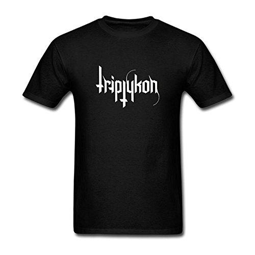 Men's Triptykon Heavy Metal Band Logo T-Shirt S ColorName Short Sleeve Medium