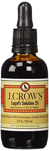 J.CROW'S® Lugol's Iodine Solution(2 oz.) Twin Pack(2 bot.)