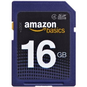 AmazonBasics SDHC Class 4 16GB Secure Digital Card