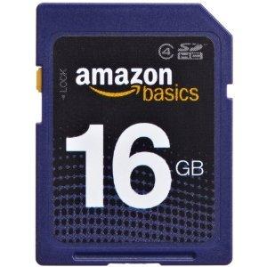 AmazonBasics SDHC Class 4 16GB Secure Digital Card