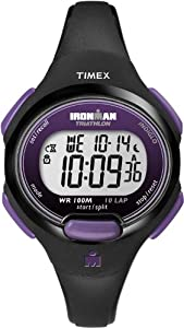 Timex Women's T5K523 Ironman Traditional 10-Lap Black Resin Strap Watch