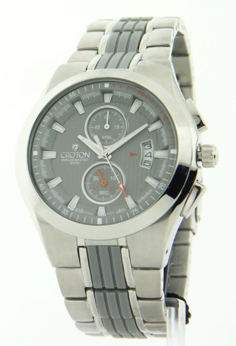 Mens Croton Dressy Chronograph Date Watch CC311132SSGY