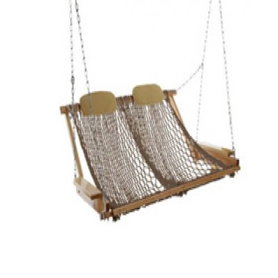 Deluxe Rope Porch Swing - Mocha