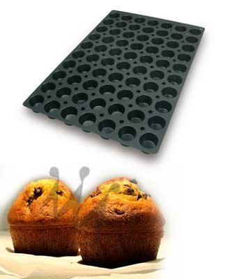 Flexible Silicone Bakeware Mini Muffin 1.4 Oz, 1.9