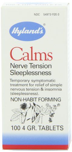 Hyland's Calms Nervous Tension and Sleeplessness Tablets, Natural Homeopathic Relief of Nervous Tension, 100 Count