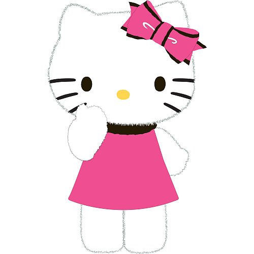 Hello Kitty Furry Kitty Decorative Pillow - 1