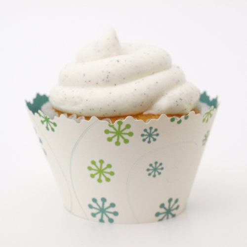 Reversible Arctic Frost & Underwater Cupcake Wrappers - Set Of 12 Liners - Use With Tier Tower Or Box