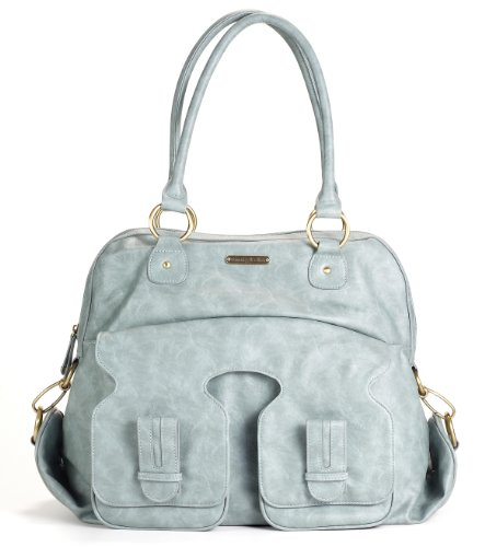 timi leslie marilyn ii diaper bag cloud blue designer nappy bags. Black Bedroom Furniture Sets. Home Design Ideas