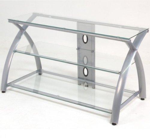 Calico Designs Futura TV Stand - Silver/Clear