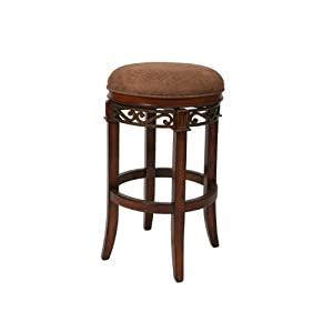 Carmel Upholstered Backless Swivel Barstool
