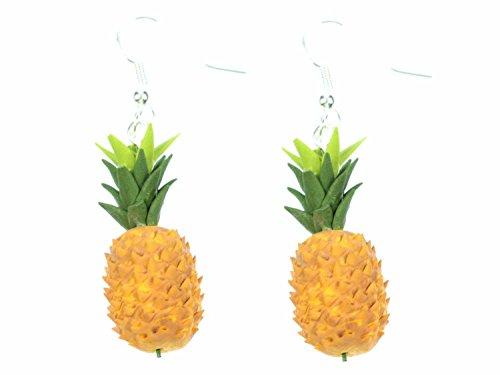 Ananas-Ohrringe-Hnger-Miniblings-Ananasohrringe-Frucht-Frchte-Obst-3D