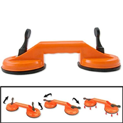 """(2) 4 1/2"""" Double Suction Cup Dent Puller Glass Carrying Handle Repair"""