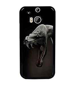 PrintDhaba Anaconda D-1256 Back Case Cover for HTC ONE M8 (Multi-Coloured)