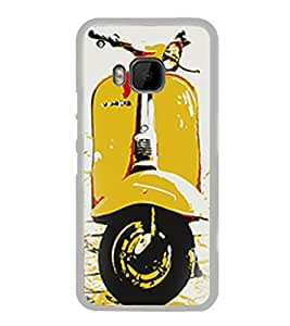Yellow Vespa 2D Hard Polycarbonate Designer Back Case Cover for HTC One M9 :: HTC One M9S :: HTC M9 :: HTC One Hima