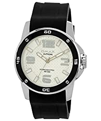 Omax Analog Silver Dial Mens Watch - SS448