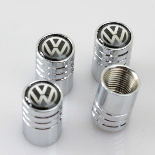Black VW VolksWagen Car Wheel Tire Valve Stem Caps (Vw Wheels Tires compare prices)