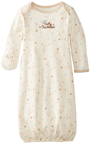 Vitamins Baby Baby-Boys Newborn Buckaroo Gown, Ivory, One Size back-794650