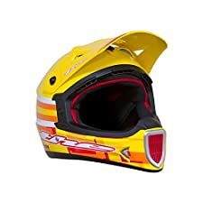 T.H.E. Industries Adult Thirty3 Fiber Glass Dot Helmet, X-Large, Cube Yellow