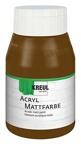 kreul-75909-colore-acrilico-opaco-flacone-da-500-ml-colore-marrone