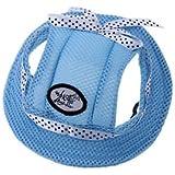 Banggood Pet Dog Cat Princess Visor Hat Peaked Cap Sunbonnet Outdoor Topee M Blue