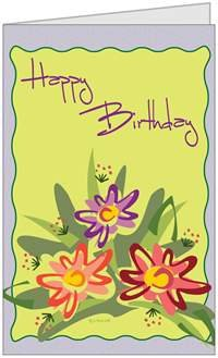Birthday Her Happy Flowers Beautiful Greeting