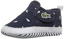 Lacoste Gazon 116 2 Slip-On (Infant/Toddler), Navy/White, 4 M US Toddler