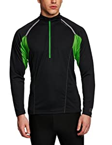 Ronhill Men's Trail Long Sleeve Zip Tee - Black/Alpine, X-Large