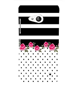 Floral Pattern Design 3D Hard Polycarbonate Designer Back Case Cover for Lumia Lumia 550 :: Microsoft Lumia 550