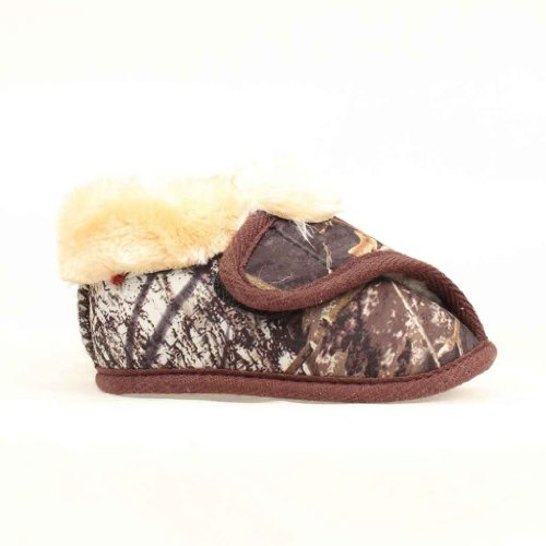 M & F Western Baby Boys' Double Barrel Camo Bootie Slippers Camouflage Medium Us front-1043522