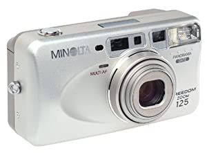 Minolta Freedom Zoom 125 Panorama Date 35mm Camera w/Remote Control