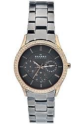 Skagen Women's 347LRXM Quartz Stainless Steel Case Brown Dial Chronograph Watch