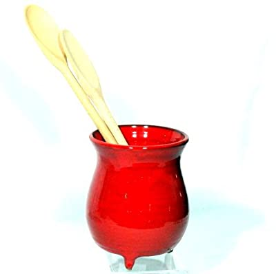 Genuine Terracotta Utensil Jar Bulbous Style - Savannah Red by Be-Active