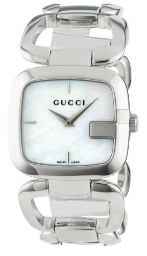 Gucci Women's YA125404 G-Gucci Medium White Mother of Pearl Dial Watch