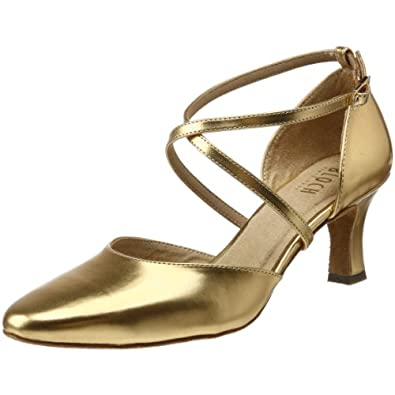 Bloch Women's Simona Ballroom Shoe,Gold,10 X(Medium) US