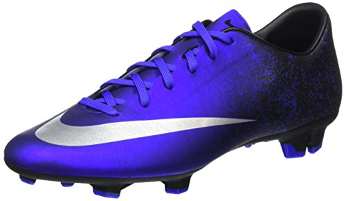Nike Mercurial Victory V CR FG - Scarpe da Calcio Uomo, Blu (Deep Royal Blue/Metallic Silver-Racer Blue-Blue), 45 EU