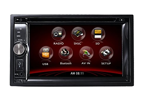 TUVVA KSD6270B Autoradio Moniceiver In-Dash 2-DIN 6,2-pollici DVD / CD / USB / SD / AUX-IN / MP4 / MP3 Player con Touchscreen, Radio RDS Bluetooth Audio Streaming Chiamate Senza Mani con Telecomando