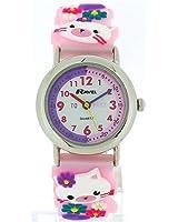 Ravel Girls-Kids 3D My Little Kitten Time Teacher White Dial Watch R1513.66