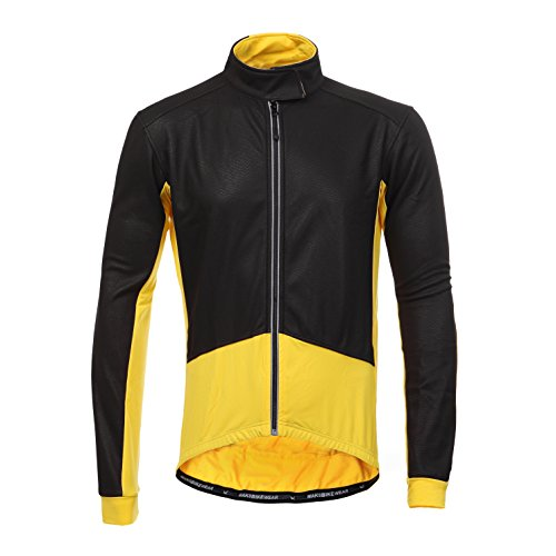 Long Sleeve Thermal Barrier Cycling Biking Windproof Firewall Winter Jacket (Large, Yellow) (Thermal Bicycle Jacket compare prices)