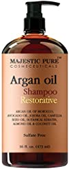 Argan Oil Shampoo from Majestic Pure Offers Vitamin Enriched Gentle Hair Restoration Formula for…