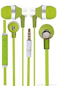 Jkobi Designer In Ear Bud Handsfree Headset Earphones With Mic Compatible For Celkon CT111 -Green