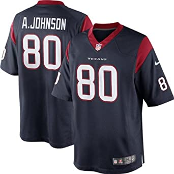 Nike NFL Youth Houston Texans ANDRE JOHNSON # 80 Game Jersey, Navy by Nike