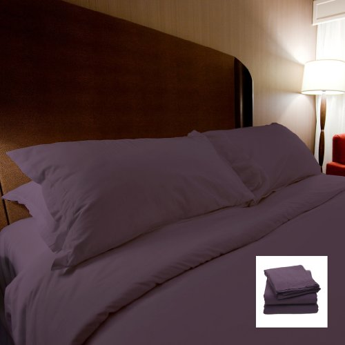 1500 Series Egyptian Quality 3Pc Duvet Cover Set - Full/Queen, Purple