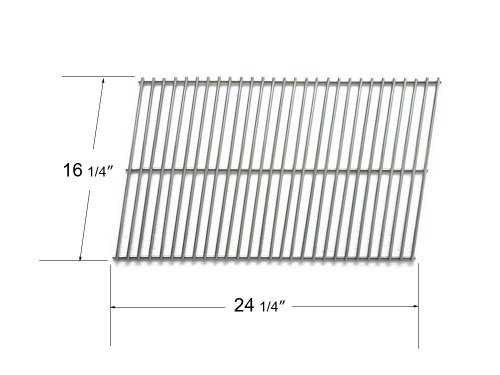 53401 - Char-Broil, Charmglow, Ducane, Mhp, Pgs And Phoenix Replacement Stainless Steel Rectangle Cooking Grid